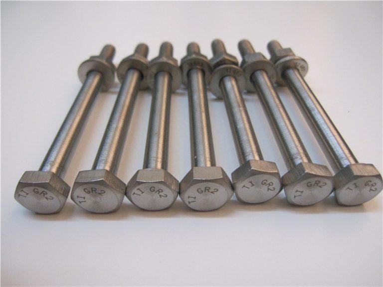 melhor qulity hex cabeça DIN933 titanium parafuso gr2 para venda