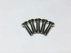 M3, M6 parafuso de titânio cabeça chata soquete cabeça cap parafusos de flange de titânio para cirurgia da coluna vertebral