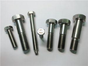 No.25-Incoloy a286 parafusos sextavados 1.4980 a286 fixadores gh2132 hardware em aço inoxidável parafusos de fixação de máquina