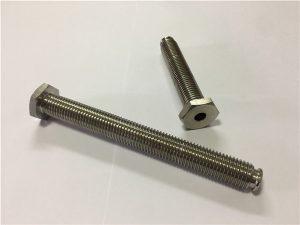 No.64-oca prendedor de titânio com furo direto titanium liga 6Al4V prato cabeça Allen chave