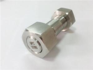 No.75-alta qualidade duplex 2205 parafuso prisioneiro de aço inoxidável