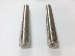 No.77 Duplex 2205 S32205 fixadores de aço inoxidável DIN975 DIN976 hastes roscadas F51