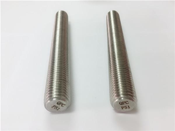 duplex2205 / s32205 prendedores de aço inoxidável din975 / din976 hastes de rosca f51