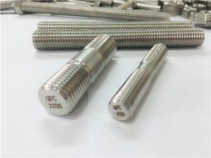 No.80-duplex 2205 S32205 2507 S32750 1.4410 alta qualidade hardware prendedor de madeira com haste de rosca âncora
