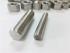 No.81-F55 Zeron100 prendedores de aço inoxidável haste cheia de rosca S32760
