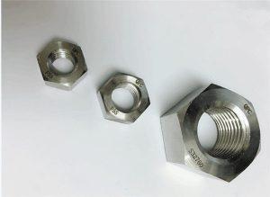 Duplex 2205 / F55 / 1.4501 / S32760 parafusos de aço inoxidável porca sextavada pesada M20